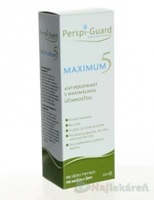 Perspi-Guard MAXIMUM 5 antiperspirant 1x50 ml